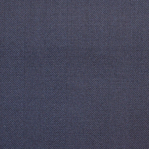 Bright Navy Blue Wide Herringbone Super 150's All Wool Suiting