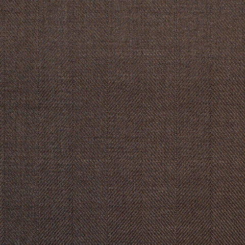 Brown Wide Herringbone Super 150's All Wool Suiting