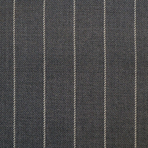 Grey Rope Stripe Super 150's All Wool Suiting