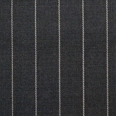 Dark Grey Rope Stripe Super 150's All Wool Suiting