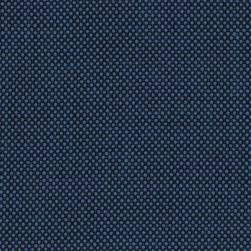 Medium Blue Birdseye Super 140's All Wool Suiting By Holland & Sherry
