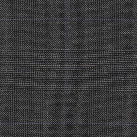 Medium Grey Glen Check Super 140's All Wool Suiting By Holland & Sherry