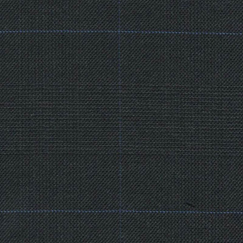 Dark Grey Glen Check Super 140's All Wool Suiting By Holland & Sherry