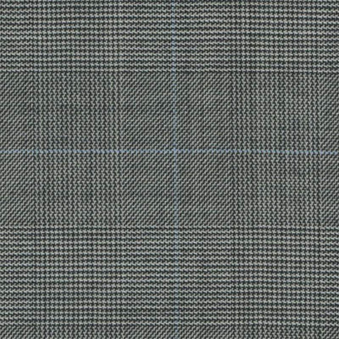 Black and White Glen Check Super 140's All Wool Suiting By Holland & Sherry