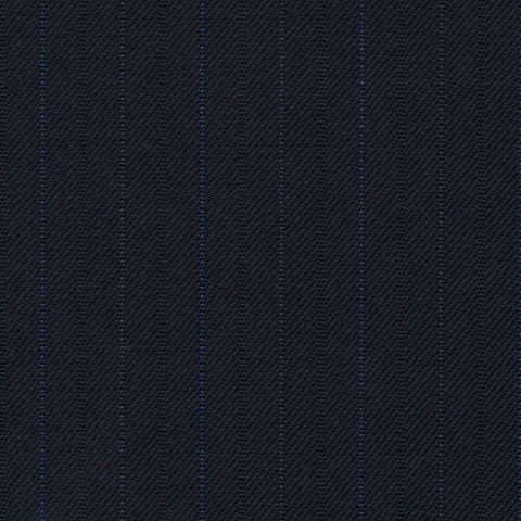 Navy Blue Fancy with Blue Pin Dot Stripe Super 140's All Wool Suiting By Holland & Sherry