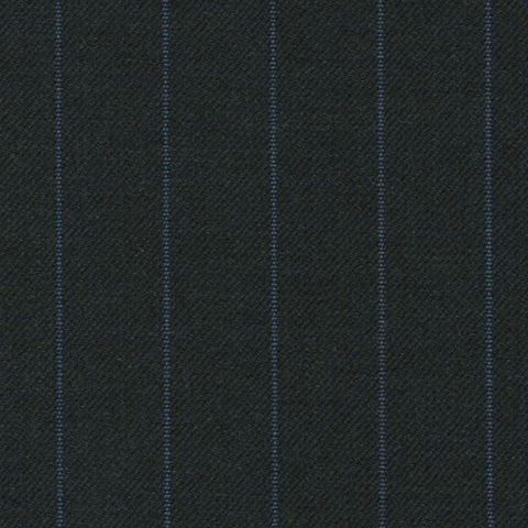Dark Grey with Blue Stripe Super 140's All Wool Suiting By Holland & Sherry