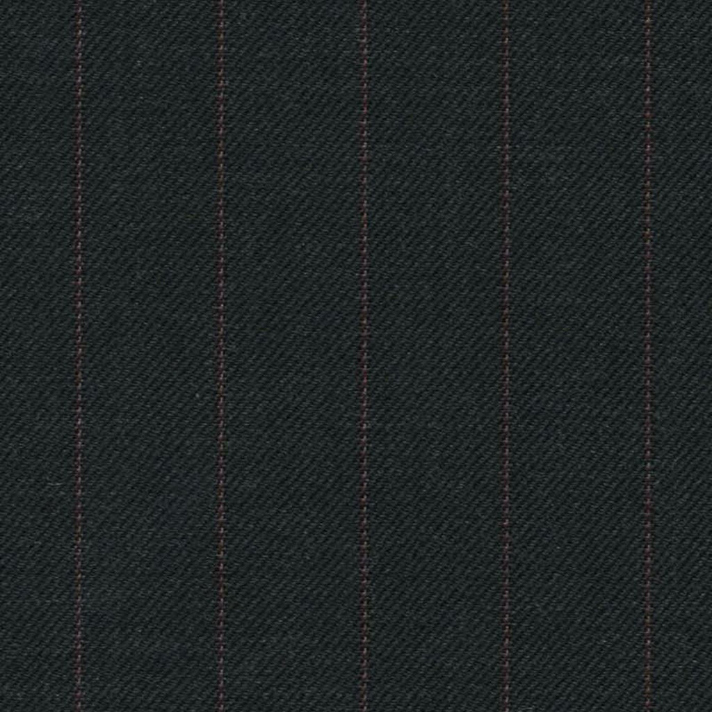 Dark Grey with Red Stripe Super 140's All Wool Suiting By Holland & Sherry