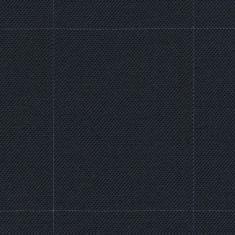 Navy Sharkskin Window Pane Check Super 140's All Wool Suiting By Holland & Sherry