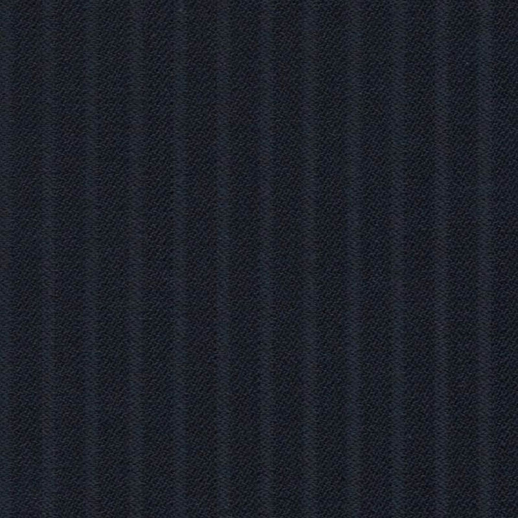 Navy Blue Self Stripe Super 140's All Wool Suiting By Holland & Sherry