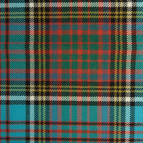 Blue Green with Brown & Red Plaid Check Coating