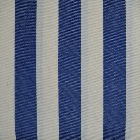 White and Blue Stripe All Wool Blazer/Boating - 2.50 Metres
