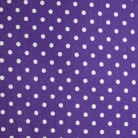 Purple with White Polka Dots Craft Poplin Cotton - Ideal for COVID19 Masks and Scrubs