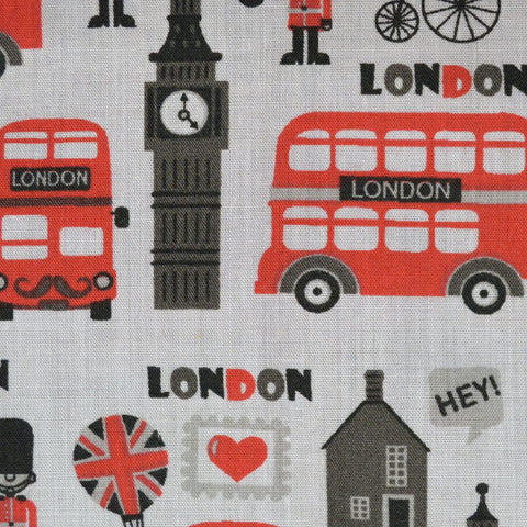 White 'London Life' Craft Poly/Cotton - Ideal for COVID19 Masks and Scrubs