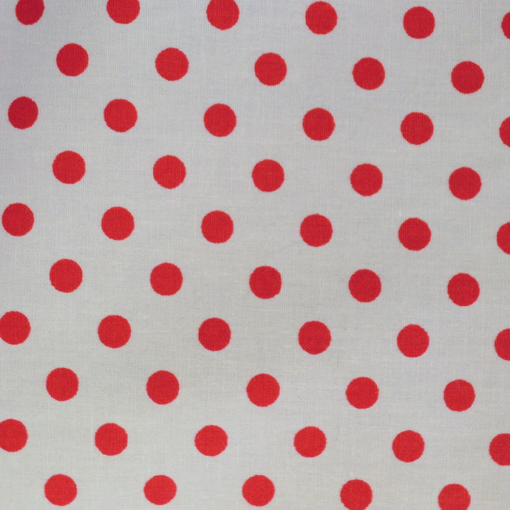 Red with White Polka Dots Craft Poplin Cotton - Ideal for COVID19 Masks and Scrubs