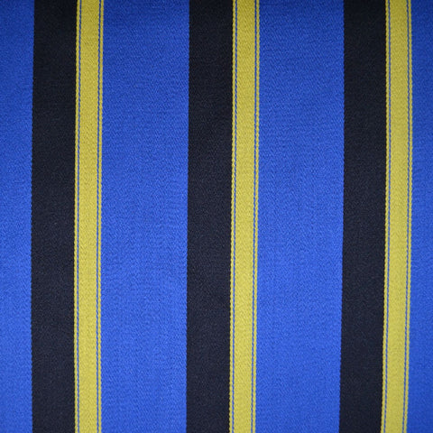 Royal Blue, Black and Yellow Stripe All Wool Blazer/Boating - 2.35 Metres