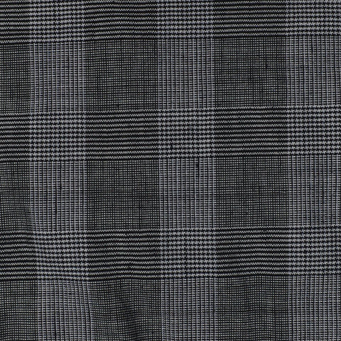 Grey Prince of Wales Check 100% Linen