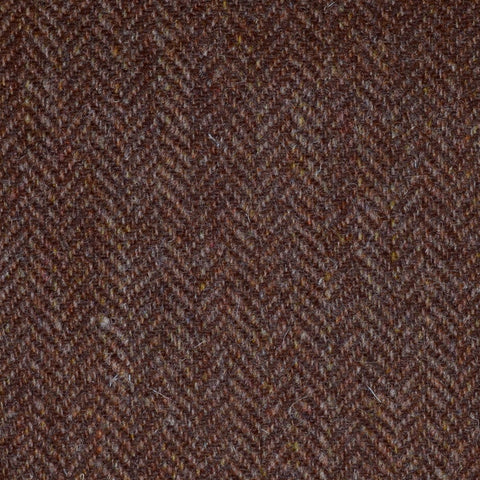 Brown and Tan Herringbone Harris Tweed