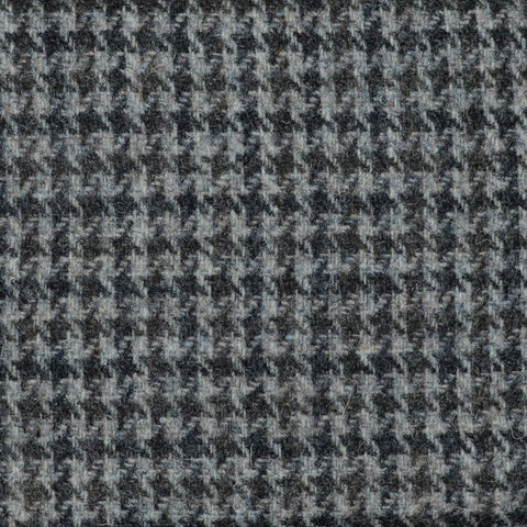 Silver, Dark Grey and Brown Dogtooth Check Harris Tweed