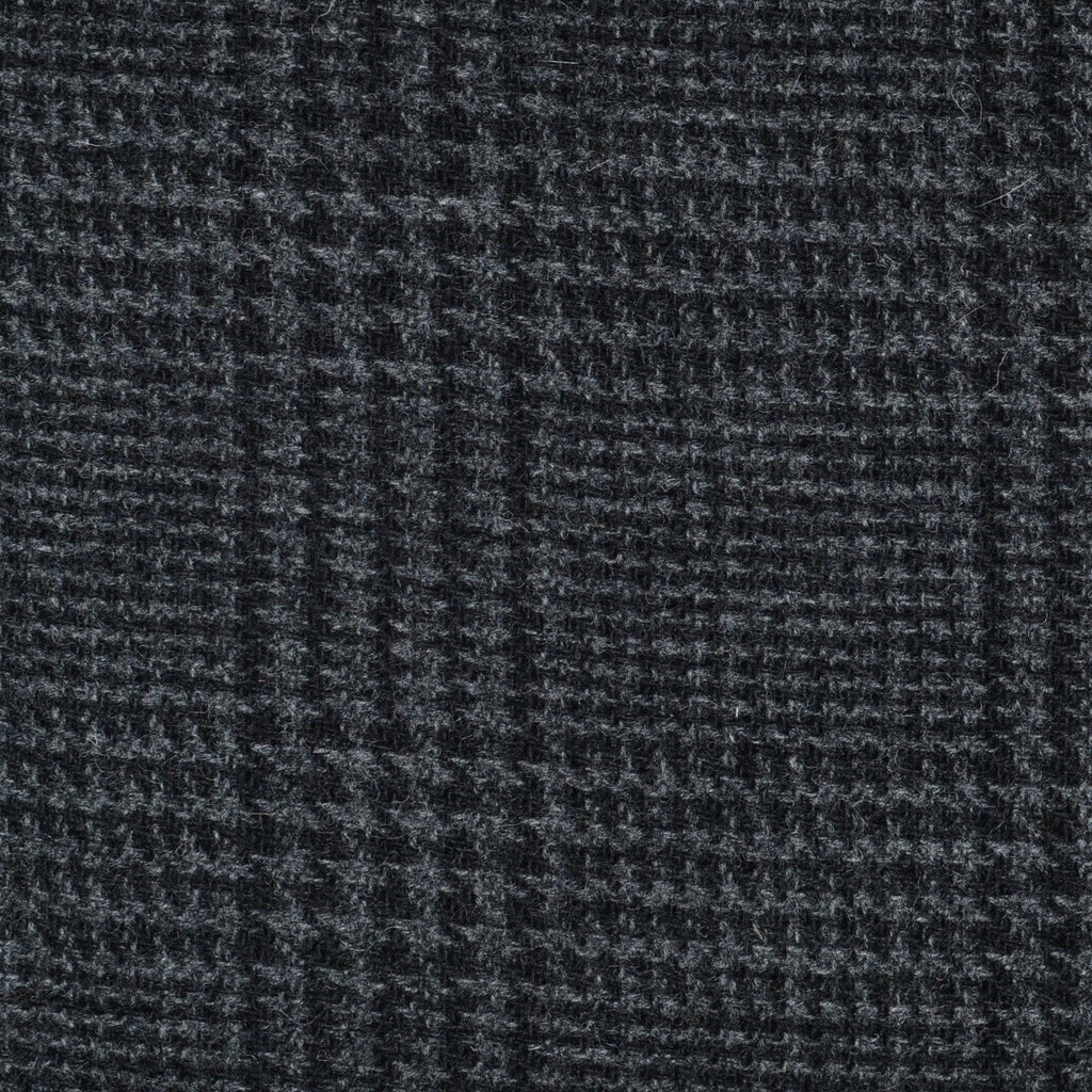 Dark Grey Prince of Wales Check Tweed - Sold Per Metre