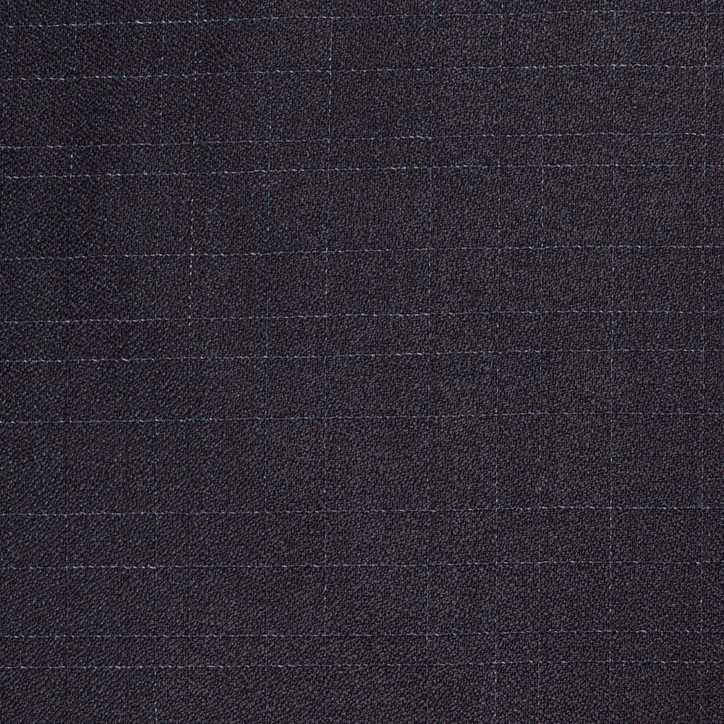 Purple/Mauve/Brown Subtle Fleck Check All Wool Suiting - Sold Per Metre