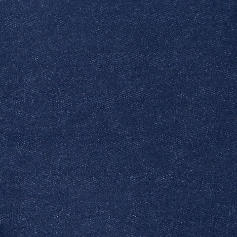 Dark Indigo Blue Cotton & Lycra Brushed Denim - 1.00 Metre