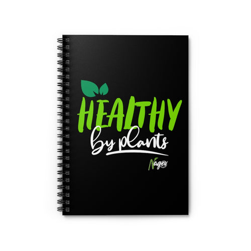 Healthy by plants Spiral Notebook - Ruled Line