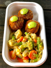 Arancini with creamy vegetable Casserole