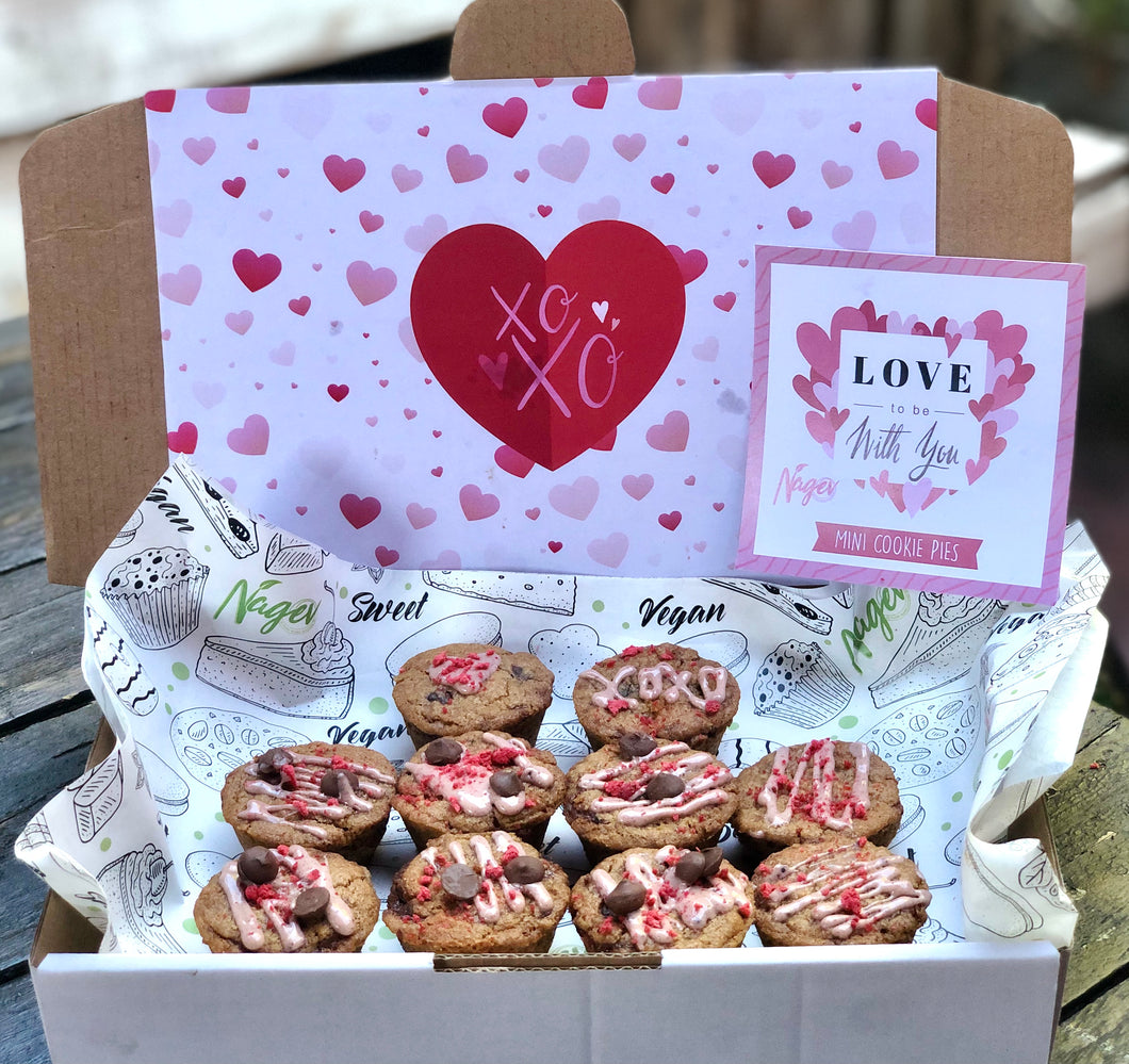VALENTINE'S DAY MINI COOKIE PIES (GF, RSF, VG)