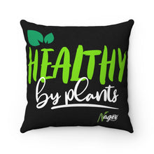 Healthy by plants Spun Polyester Square Pillow
