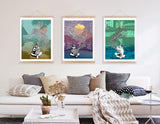 Noodle Charming Minty Monkey Art Prints