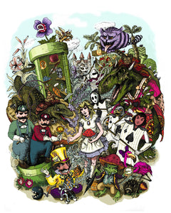 Alice in Marioland Prints