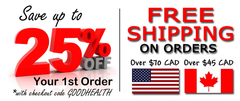 Save up to 25% off your 1st order - Free Shipping over $45