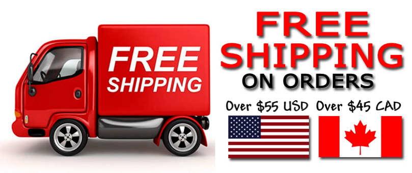 Free shipping over $45 within Canada over $55 USD to USA