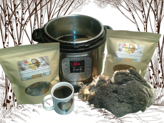 How to Brew Chaga Tea in Instant Pot