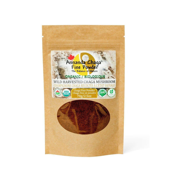 Annanda Organic Wild Harvested Chaga Mushroom Tea Fine Powder