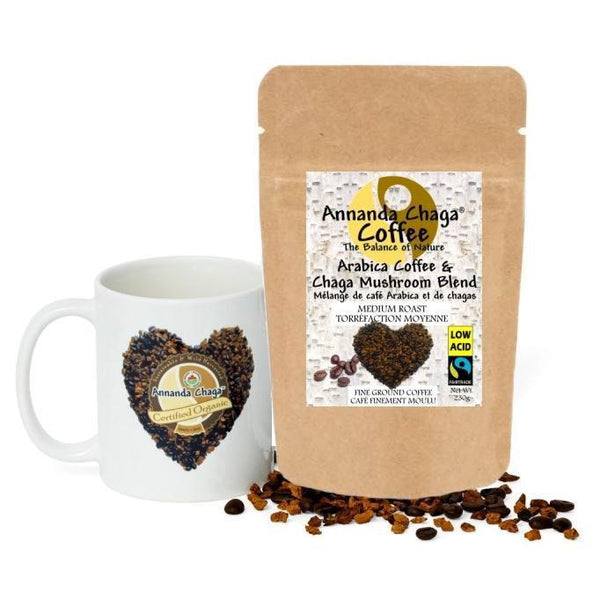 Chaga Mushroom Coffee - Low Acid Fair Trade