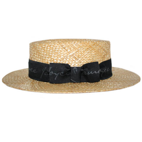 Hand-Woven Bloomsday Boater Hat