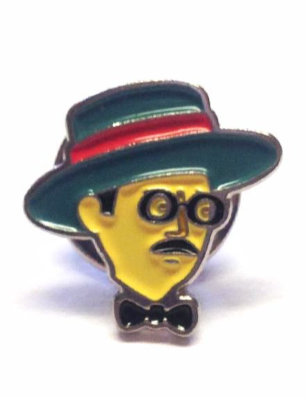 Enamel Badge Joyce Face