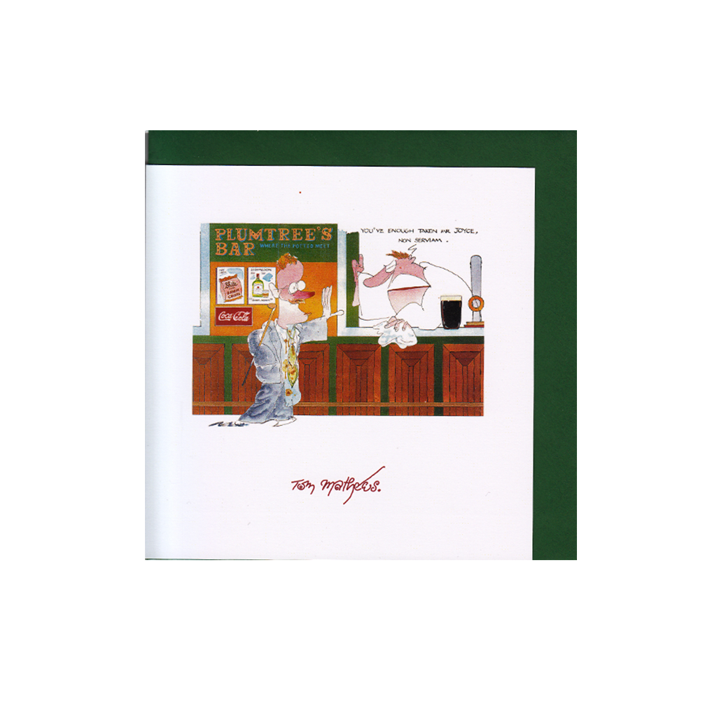 Greetings Card by Tom Mathews - Plumtree's Bar