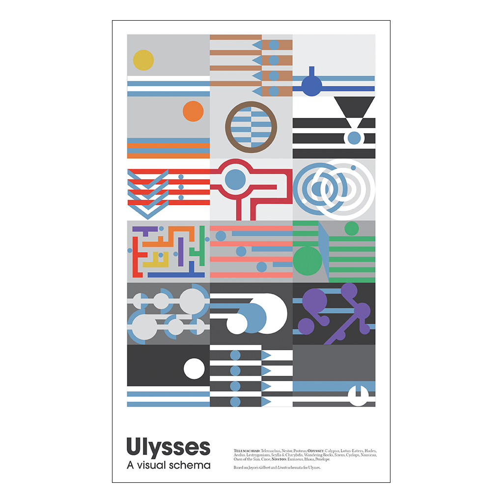 Ulysses Visual Schema Small Print A3