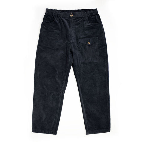 Charcoal Panelled Corduroy Trousers