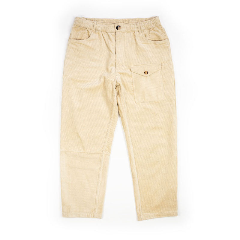 Straw Panelled Corduroy Trousers