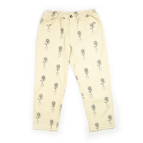 Cream Sunflower Trousers
