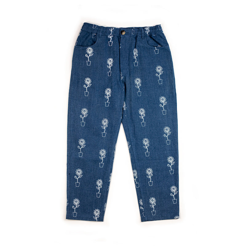 Blue Sunflower Trousers