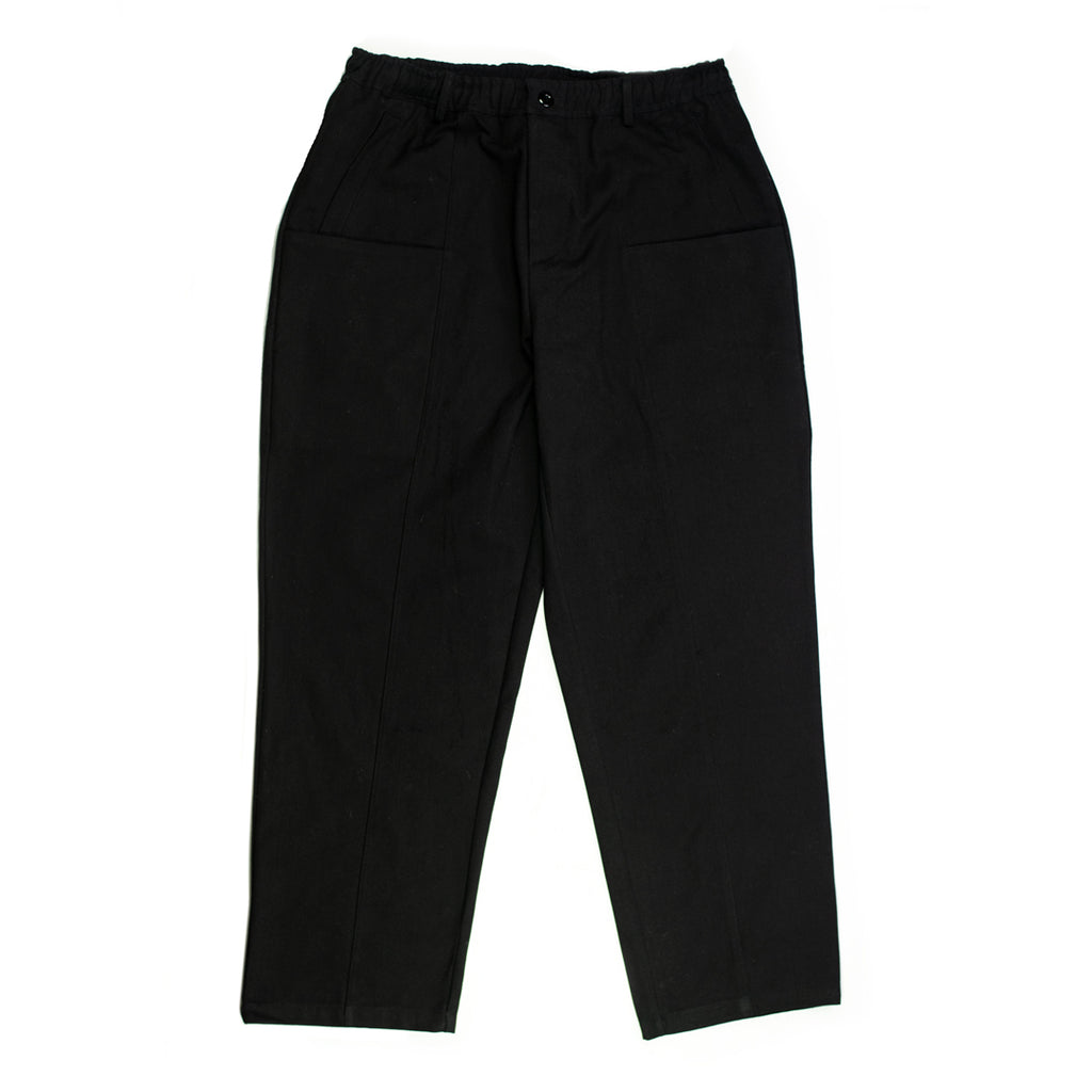 Black Canvas Utility Trousers