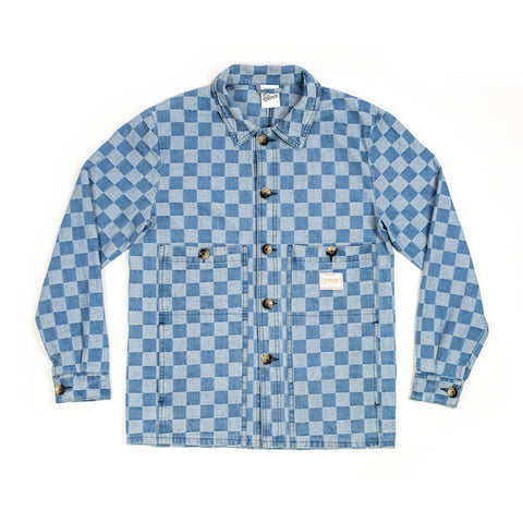Checked Denim Jacket