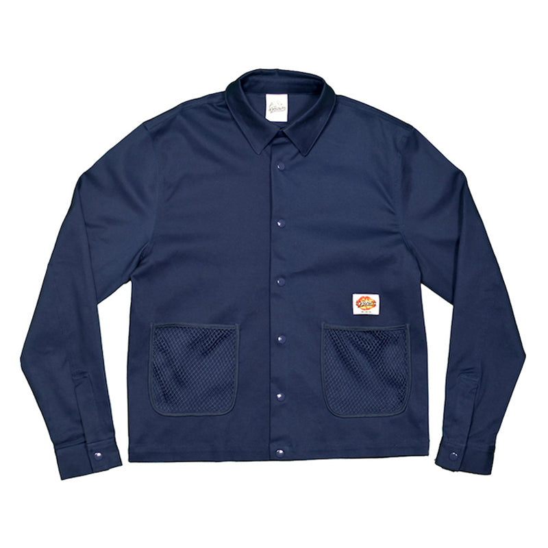 Navy Net Pocket Work Jacket