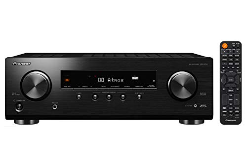 Pioneer VSX-534 5.2-Channel A/V Receiver HDR10, Dolby Vision, Atmos and Virtual Enabled with 4K and Bluetooth