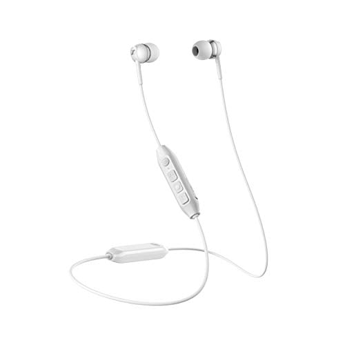 Sennheiser CX 350BT Bluetooth 5.0 Wireless Headphone - 10-Hour Battery Life, USB-C Fast Charging, Virtual Assistant Button, Two Device Connectivity - White