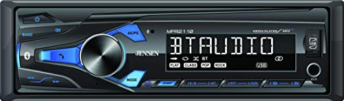 Jensen MPR2110 Single DIN Mechless Digital Media Car Stereo Receiver with Bluetooth Connectivity